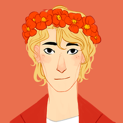 this is a picture of enjolras but it is also a picture of who i am inside
